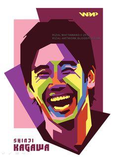 """Shinji Kagawa"" WPAP - rizal-artwork"