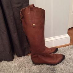 Sam edelman riding boots Leather riding boots! Hardly worn! Great condition Sam Edelman Shoes Winter & Rain Boots