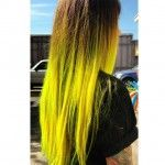 neon yellow ombre