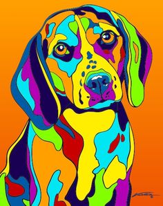 Multi-Color Beagle Dog Breed Matted Prints & Canvas Giclées Source by Beagle Dog Breed, Beagle Art, The Fox And The Hound, Arte Pop, Animal Paintings, Dog Art, Les Oeuvres, Dog Breeds, Portraits