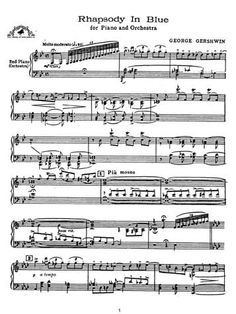 Rhapsody in Blue begins with a trademark swooping riff from the clarinet…