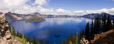 Crater Lake Lodge is a beautiful place with a view of a little peace of heaven. The colors are vibrant and the air is crisp and clear.