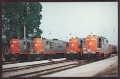 Grand Trunk Western Yard Pontiac Michigan Semta  902 903 904 Railroad Postcard