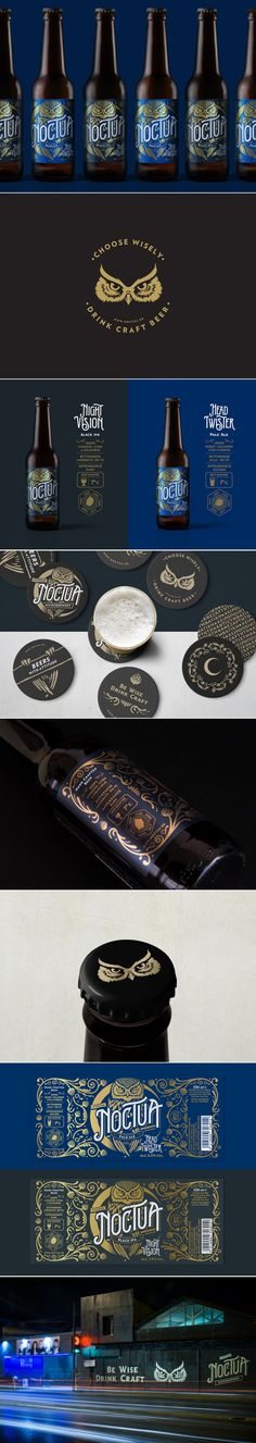 Athenian Design Agency Channels Nocturnal Animals For This Microbrewery - - Craft Beer - Beverage Packaging, Bottle Packaging, Brand Packaging, Product Packaging, Craft Beer Brands, Brewery Logos, Beer Label Design, Bottle Design, Nocturnal Animals