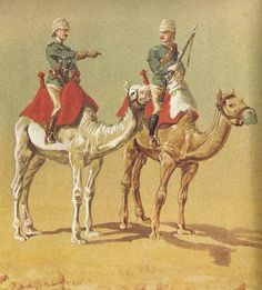 Guardsman, guards Camel regiment 1885