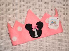 Mini Mouse 1st Birthday Crown by Little Pickle www.facebook.com/Little.Pickle.Store