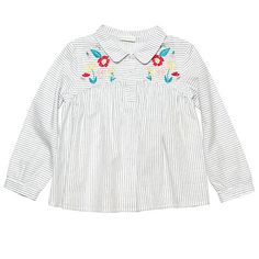 Margherita Kids Girls' Floral Embroidered Blouse, White #margheritakids #fw16 #backtoschool