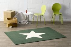 Tappeto Stern in polipropene verde, 140 x 200 cm Home Living, Home Collections, Kids Rugs, Contemporary, Room, Design, Inspiration, Furniture, Stars