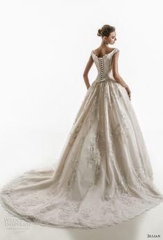 jillian 2018 bridal off the shoulder cap sleeves sweetheart neckline heavily embellished bodice princess ball gown wedding dress corset back chapel train (10) bv