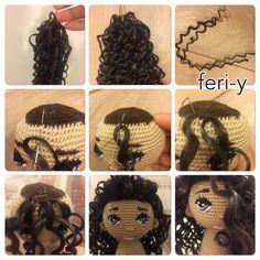 "215 Likes, 24 Comments - feri-dolls (@fereshte4745) on Instagram: ""مراحل دوخت مو مصنوعي"""