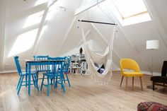 Loft in Reykjavik, Island. Our cool and cozy loft is the perfect place to stay for a visit to Reykjavík. Although it's not large it's great open layout and high ceiling give it a real spacious feel. Situated in the beautiful old west side of Reykjavík, 10 minutes from cente... #travel #wanderlust #places #visit #recommendations #traveltips #signs #maps #marquees