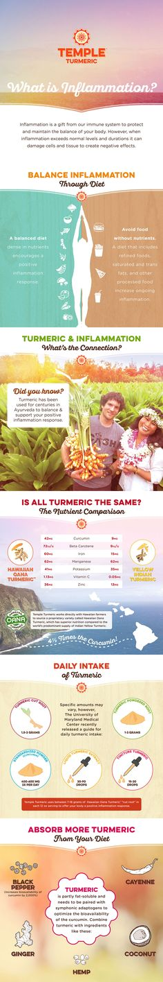 The Benefits of Turmeric - Positive Inflammation Response (Infographic) | Temple Turmeric