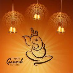 Ganesh Chaturthi Greetings, Happy Ganesh Chaturthi Wishes, Ganesh Chaturthi Images, Ganesha Art, Lord Ganesha, Diwali Vector, Ganpati Decoration Design, Sunrise Wallpaper, Ganesh Wallpaper