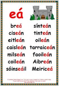 Póstaeir eá Scottish Gaelic Phrases, Gaelic Words, 3rd Grade Reading, Kids Reading, Teaching Reading, English Study, English Lessons, Learn English, Ch Words