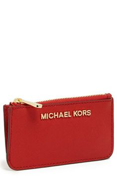MICHAEL Michael Kors 'Jet Set' Saffiano Leather Key Pouch available at #Nordstrom