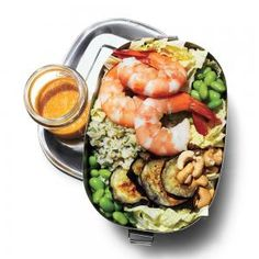 Asian Shrimp Salad | MyRecipes.com This fresh shrimp salad makes a light and healthy meal on the go.