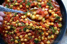 Ciecierzyca z pomidorami i papryką Chana Masala, Ethnic Recipes, Food, Essen, Meals, Yemek, Eten