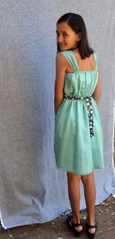 Graduation dress for 5th Grade, our Flicka Dress,Bobo Stripe