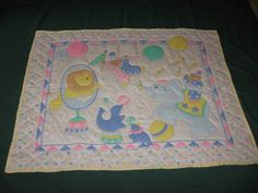 Baby quilt Circus Quilt Bears Lions Seals by BarbsSewingBasket, $35.00