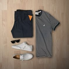 Essentials by huntervought Trendy Mens Casual Wear, Men Casual, Tomboy Fashion, Mens Fashion, Fashion Outfits, Outfit Grid, T Shirt And Jeans, Preppy Outfits, Mens Clothing Styles