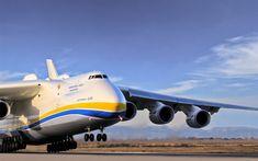 Download wallpapers Antonov An-225 Mriya, Antonov Airlines, Cossack, UR-82060, An-225, Ukrainian transport aircraft, largest aircraft, strategic airlift cargo aircraft, Antonov, Ukraine