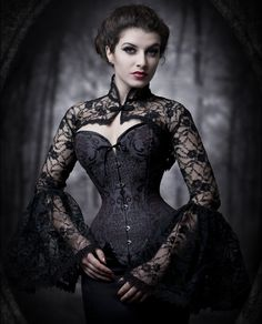 Corset with lace spencer - Steampunk fashion