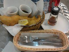 Knockbox Coffee Company @ Mongkok # Fish & Chips plus Coca Cola