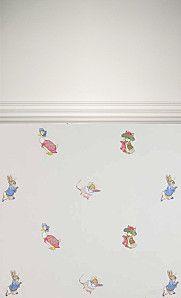 papier peint Beatrix Potter Tales Jane Churchill bébé enfant Peter Rabbit