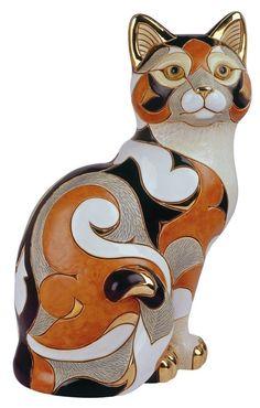 Большой дикой Коллекция  Limited Edition 1000  De Rosa Rinconada известна на международном уровне для его художественного и элегантной использования платины, 18-каратного золота, и яркие глазури эмали в создании этих ручной работы керамические фигурки. Каждый дизайн индивидуально ручной и ручной росписью, гарантируя, что никакие две скульптуры не создаются именно так.  Розничная цена: $ 370.00 Rinconada Calico Cat #445 De Rosa Gallery Collection | eBay