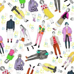 Jeremy Combot- Crazy Colored Fashion Illustration