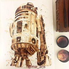De superbes aquarelles peintes avec du café