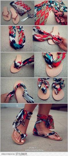 Sweet DIY Sandals!