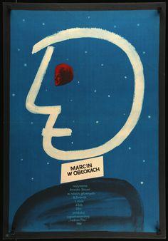 "MARTIN IN THE CLOUDS Polish movie poster, 23x33 1961, art by ?  Original title ""Martin u oblacima"" (released in English-speaking countries as ""Martin in the Clouds""), the 1961 Brnako Bauer Yugoslavian comedy starring Boris Dvornik, Ljubica Jovic, Lila Anders, Zlatko Crnkovic, and Nela Erzisnik."