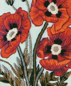 tessa perlow embroidered poppies  Modern Flower Embroidery to inspire your Creative Summer Projects