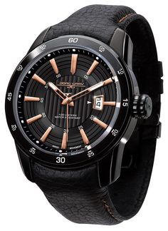Jorg Gray JG3700-12 Men's Watch Swiss Movement With Black And Rose Gold Dial