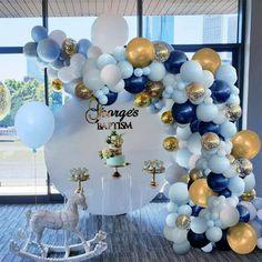 Balloon Ribbon, Balloon Arch, Balloon Garland, Balloon Decorations, Balloon Pillars, Metallic Balloons, Gold Confetti Balloons, White Balloons, Latex Balloons
