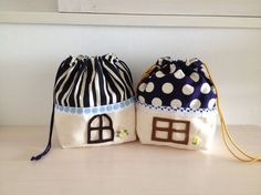 お家のお弁当袋♪ by 森のかたつむり バッグ・財布・小物 ポーチ Sewing Projects For Kids, Sewing For Kids, Drawing Bag, Slouch Bags, Diy Bags Purses, Fabric Yarn, Creation Couture, Jute Bags, Craft Bags