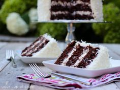 Chocolate Coconut Cake - Your Cup of Cake Easy Desserts, Delicious Desserts, Dessert Recipes, Coconut Cupcakes, Coconut Truffles, Oreo Cake, Brownie, Cake Ingredients, Cupcake Cakes