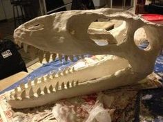 Paper Mache Dinosaur Skull. Free Instructions