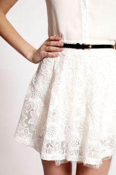 #boohooboutique Boutique Macy Flower Embroidered Organza Skirt >> £25.00