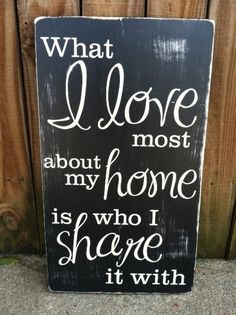 What I Love Most About My Home  Subway Sign  by ExpressionsWallArt, $39.00