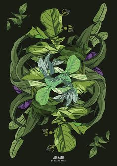 Dark edition print. Wall decor. With #flora, #tropical design by ...