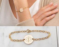 Personalized Bracelet for Men / Leather Bracelet / Custom Dainty Bracelets, Id Bracelets, Layered Jewelry, Layered Bracelets, Diabetic Bracelets, Swarovski Crystal Beads, Bracelet Designs, Wedding Jewelry, Beaded Jewelry