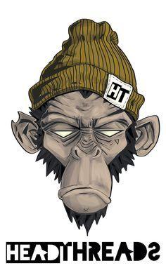 'Head Threads' monkey illustration by Jessie Orgee
