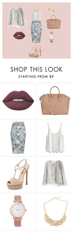 """""""outfit entrevista de trabajo casual"""" by claudia-ximena-salas-flores on Polyvore featuring moda, Lime Crime, Givenchy, River Island, Chicwish, Casadei, Larsson & Jennings y Lydell NYC"""
