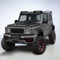 Y esta versión del que pronto será lanzada por se llama Black bison y está AON Jimny 4x4, Jimny Sierra, Jimny Suzuki, Polaris Atv, Suzuki Cars, Kei Car, Expedition Vehicle, Ford Bronco, Land Rover Defender