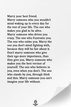 Popular Marry Your Best Friend Quotes Feelings Ideas Love Quotes For Him, Quotes To Live By, Crazy About You Quotes, Marry Me Quotes, Married Quotes, Marry Your Best Friend, Best Friends, Best Friend Quotes, Best Friend Messages