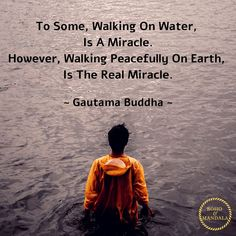 To Some, Walking On Water Is A Miracle. However, Walking Peacefully On Earth Is The Real Miracle. Meditation Space, Yoga Meditation, Spiritual Psychology, Miracle Quotes, Buddha Temple, Gautama Buddha, Walk On Water, Tibetan Buddhism, Dalai Lama