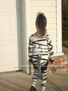 Homemade Zebra Costume: My daughter is a zebra lover. She only wanted to be a zebra for Halloween. The costumes at the store and online were designed for babies and toddlers,
