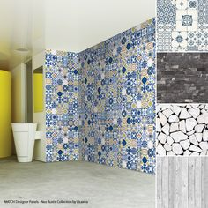 Forget ceramic, think wood! High gloss panels with a perfect tile design. Yes it is possible! Give your project an authentic design touch without the fuss.